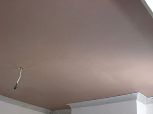 Plastering Covent Garden WC1 plastered ceiling.
