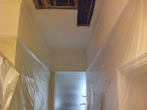 The Notting Hill W11 Plasterer - ceiling requiring plaster repair following water damage
