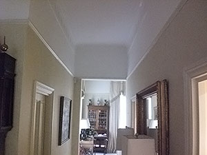 The Notting Hill W11 Plasterer - recently plastered & decorated ceiling
